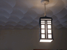 Tardis Lamp Laser Cut DXF File
