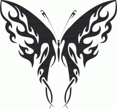 Tattoo Tribal Butterfly Silhouette CDR File