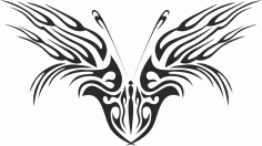 Tattoo Tribal Butterfly CDR File