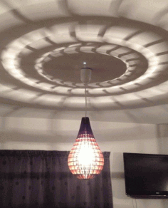 Tear Drop Pendant Lamp Laser Cut DXF File