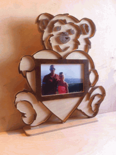Teddy Bear Photo Frame Laser Cut DXF File