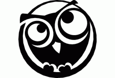 The Owl Free Dxf For Cnc DXF Vectors File