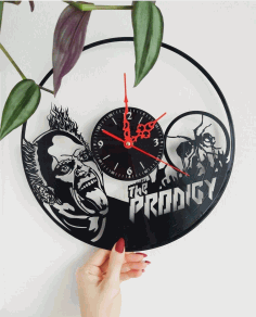 The Prodigy Vinyl Record Wall Clock Laser Cut CDR File