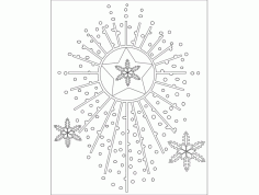 Things Festive Design 66 Free Download DXF File