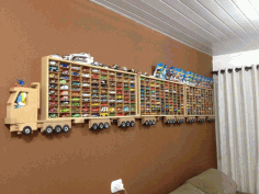 Toy Car Storage Rack for 300 Trucks Free CDR File