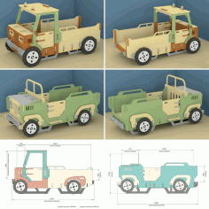 Toy Loader Truck Krovatka Mashinka Free CDR Vectors File