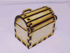 Toy Treasure Chest Box Laser Cut CDR File