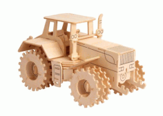 Tractor Vector CNC router and laser cut Free CDR Vectors File