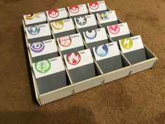 Trading Card Sorting Box Free DXF Vectors File