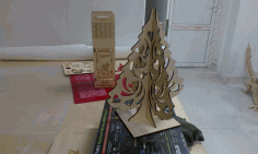 Tree D3 Puzzle CNC Laser Cut Free CDR File