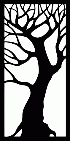 Tree Decorative Panel Free DXF File