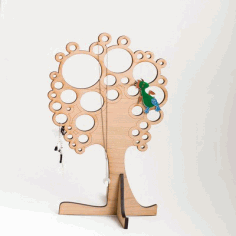 Tree Jewelry Stand CNC Laser Cut Free CDR File