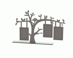 Tree Laser Cut Frame Design DXF Vectors File