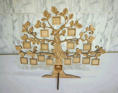 Tree Photo Frame CNC Laser Cutting Free CDR Vectors File