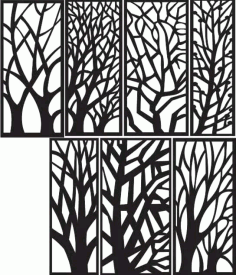 Tree Silhouette Free DXF Vectors File