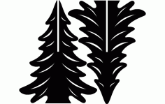 Tree Stand Laser Cut DXF File