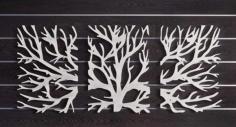 Tree Wall Hanging Frame Laser Cut DXF File
