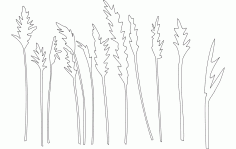 Trees And Plants Free DXF Vectors File