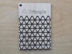 Triangle Pattern Living Hinge Template for Laser Cut DXF File
