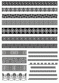 Tribal Abstarct Vector Borders CDR File