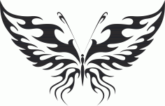 Tribal Butterfly Vector Art 11 Free DXF Vectors File