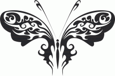 Tribal Butterfly Vector Art 30 Free DXF Vectors File