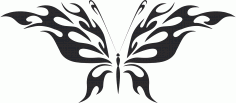 Tribal Butterfly Vector Art 45 Free DXF Vectors File