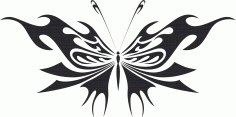 Tribal Butterfly Wildlif Vector Art Free DXF Vectors File