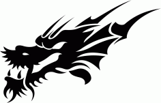 Tribal Dragon Tattoo Design Vector Free CDR Vectors File
