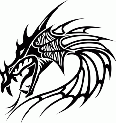 Tribal Dragon Tattoo Vector free CDR Vectors File
