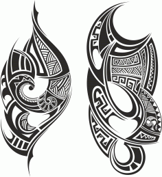 Tribal Tattoo Free CDR Vectors File
