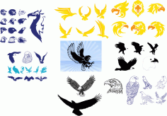 Tribal Wing Tattoos Vector Art Collection CDR File