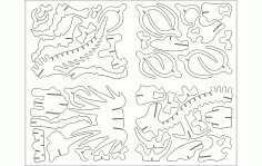 TRITOPS Animal Laser Cut DXF File