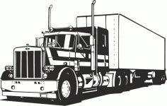 Truck Silhouette Vector Free CDR Vectors File