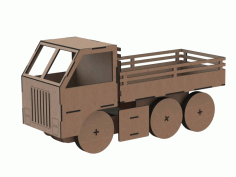 Truck Toy Laser Cut Free CDR Vectors File