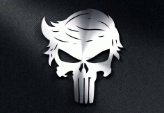Trump Punisher Skull DXF File