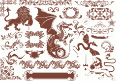Vector Heraldic Elements free CDR Vectors File