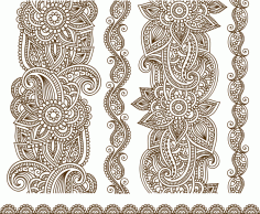 Vector Illustration Of Mehndi Free CDR Vectors File