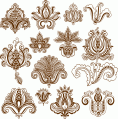 Vector Mehndi Designs Free CDR Vectors File
