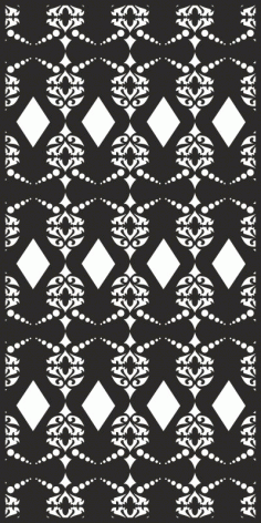 Vector Seamless damask pattern Laser Cut Free CDR File