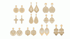 Vectors for cutting earrings Free CDR File