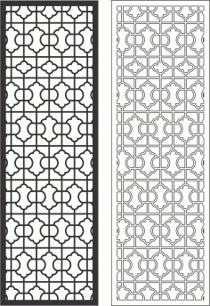 Victorian Jali Seamless Vertical Banner Free CDR File