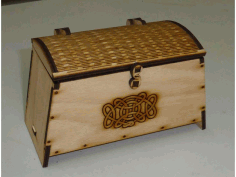 Viking Chest with lock and hinge Laser Cut CDR File