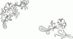 Vines and Flower Vector Laser Cut CDR File