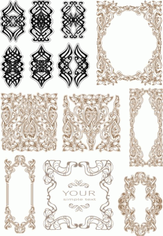 Vintage Baroque Ornament Retro Pattern Free CDR Vectors File