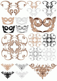 Vintage Baroque Ornaments Free CDR Vectors File