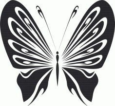Vintage Butterfly Stencils Free CDR File
