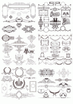 Vintage Decor Collection Free CDR Vectors File