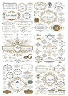 Vintage Seamless Collection Free CDR Vectors File