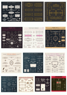 Vintage Signs and Banners and Frames Free CDR Vectors File